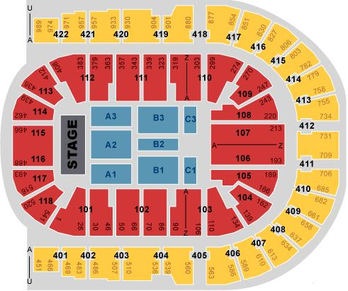 Justin bieber tickets x4 02 arena thu 07 03 13 block b3 row d for 02 arena floor seating plan