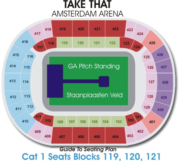 Amsterdam arena take that 2011 guide to seating plan