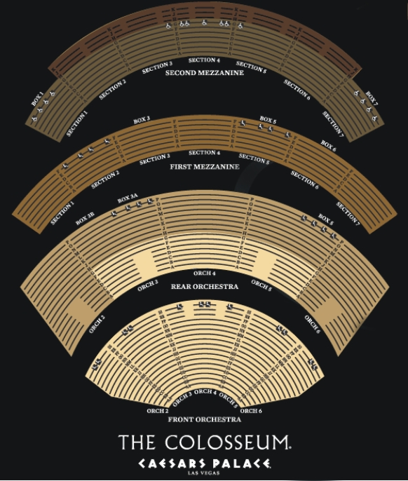 colosseum las vegas seating chart: The colosseum at caesars palace
