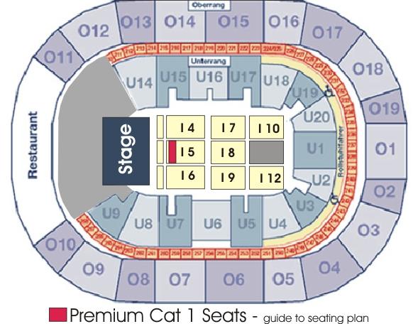 O2 world hamburg george michael for 02 arena floor seating plan