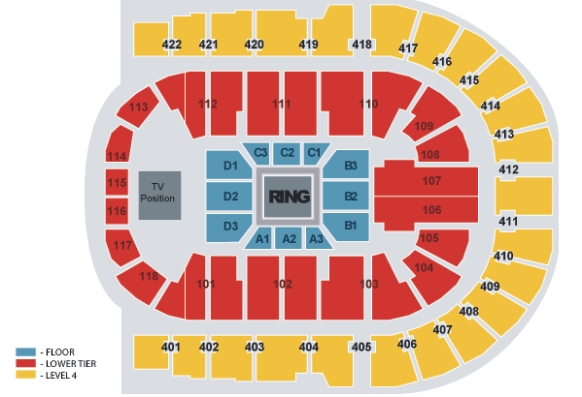 Image result for o2 arena boxing seating plan