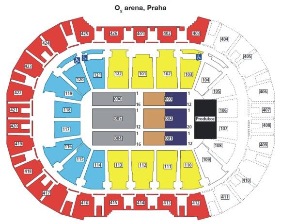 O2 Arena Seating Map O2 Arena Prague O2 Arena Seating Map