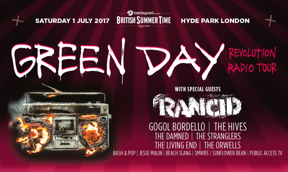Green Day Tickets 2017 Green Day Concert Tour 2017 Tickets green day tickets vip info green day tour dates hyde park map 2017 ...