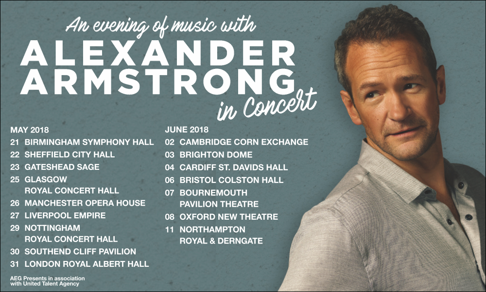 Alexander Armstrong Tickets and Tour 2018