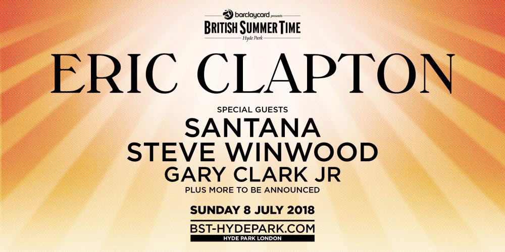 Eric Clapton Tickets Hyde Park London 08 July 2018