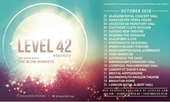 Level 42 bristol hippodrome 21 october 2018 level 42 the ultimate meet greet experience bristol 21 october 2018 m4hsunfo