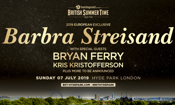 Barbra Streisand Hyde Park London 2019