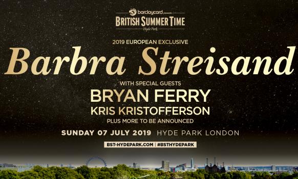 Barbra Streisand Hyde Park London 2019