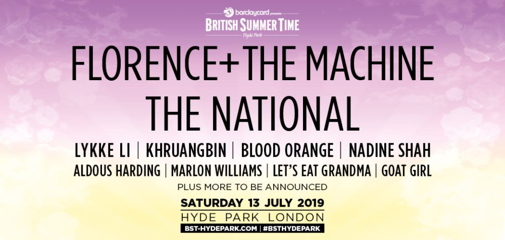 Florence+ The Machine and The National Tickets London Hyde Park 2019