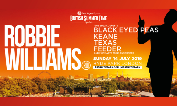 Robbie Williams Tickets London BST Hyde Park 2019