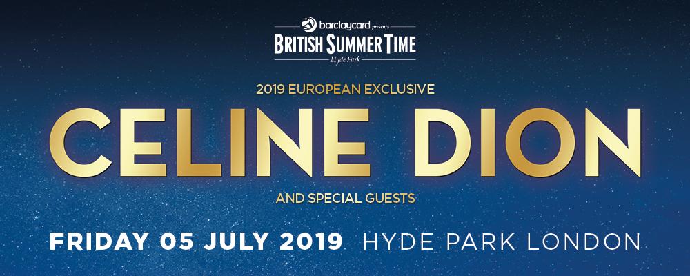 Celine Dion Tickets London Hyde Park 2019