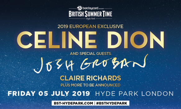 Celine Dion Tickets London BST Hyde Park 2019