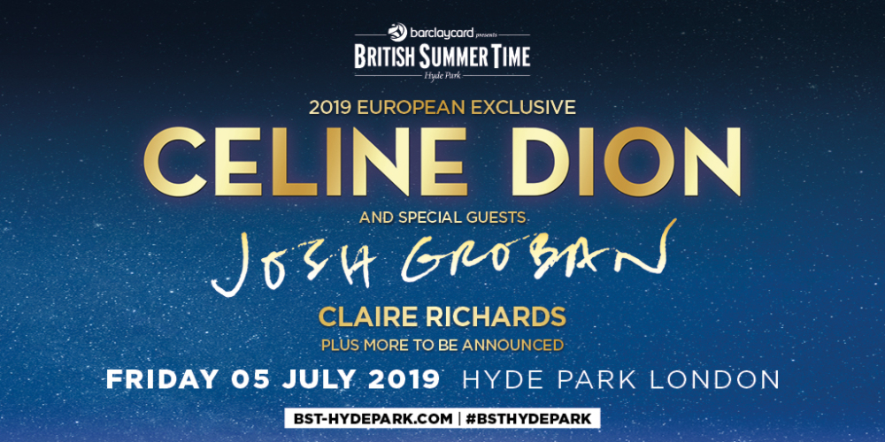Celine Dion Vip Tickets London Hyde Park Bst 2019