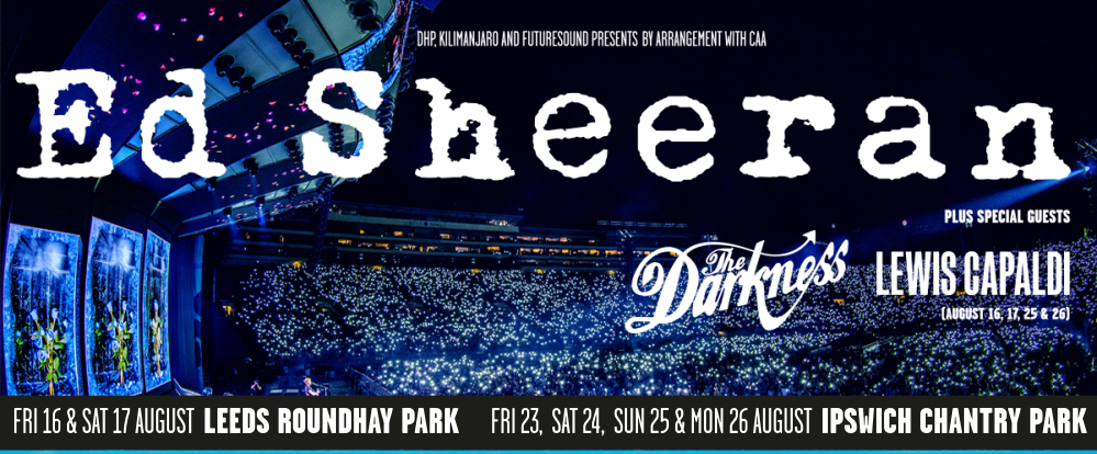 Ed Sheeran Tickets Leeds and Ipswich Official Packages 2019