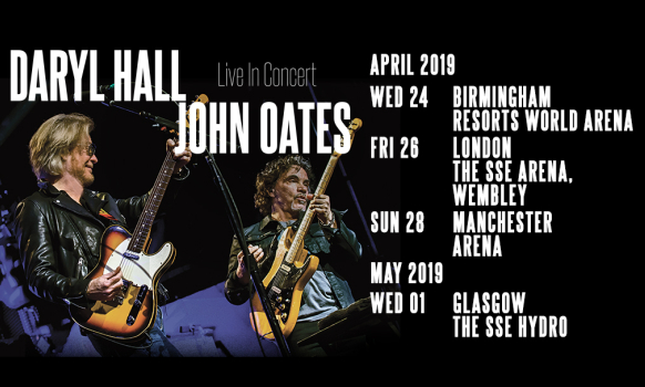 Daryll Hall and John Oates UK Tour 2019 Official Tickets
