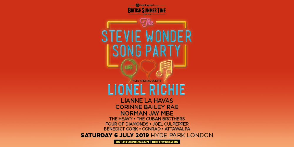 Stevie Wonder London Hyde Park 2019 Tour Dates