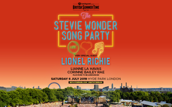 Stevie Wonder BST London Hyde Park 06 July 2019