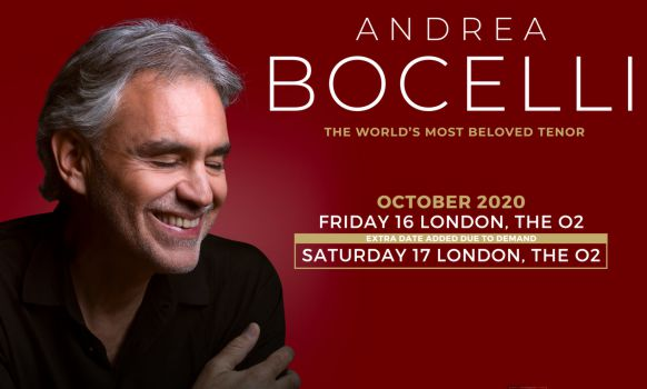 Andrea Bocelli The O2 Arena London 2020