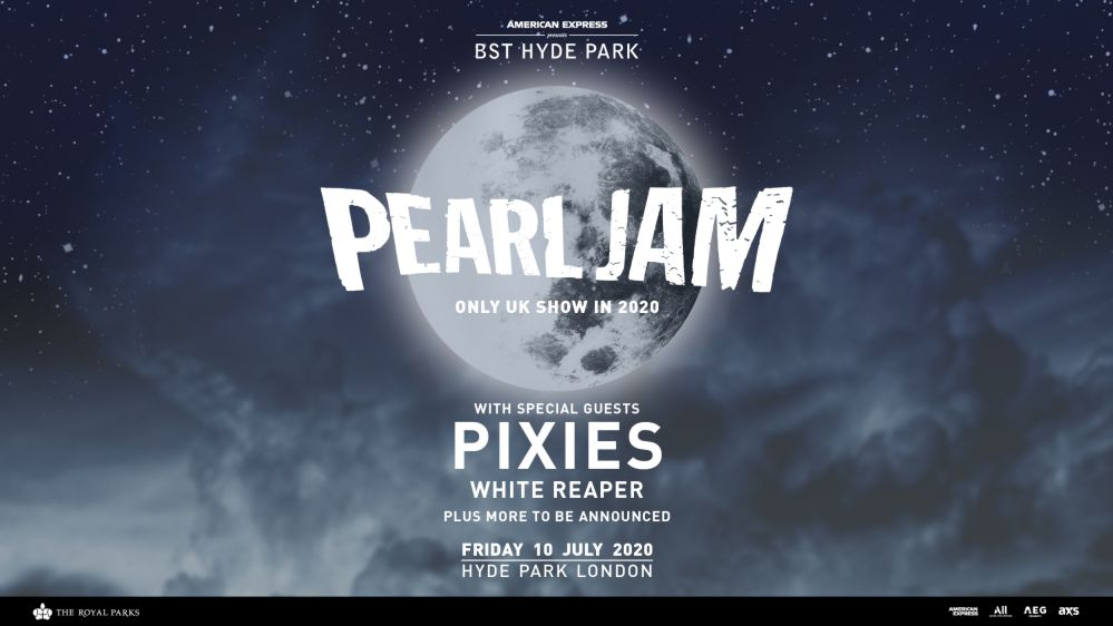 Pearl Jam London BST Hyde Park 2020
