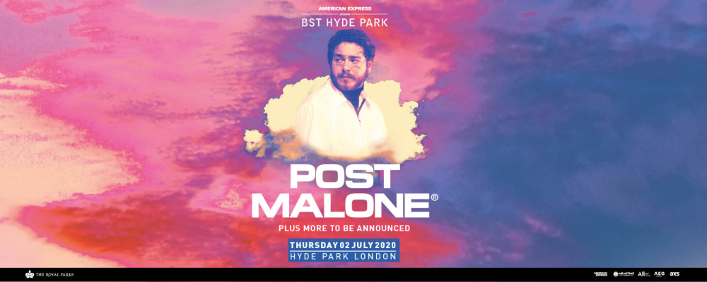 Post Malone BST Hyde Park 02 July 2020