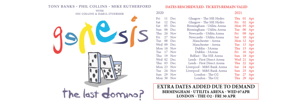 Genesis The Last Domino Tour 2020