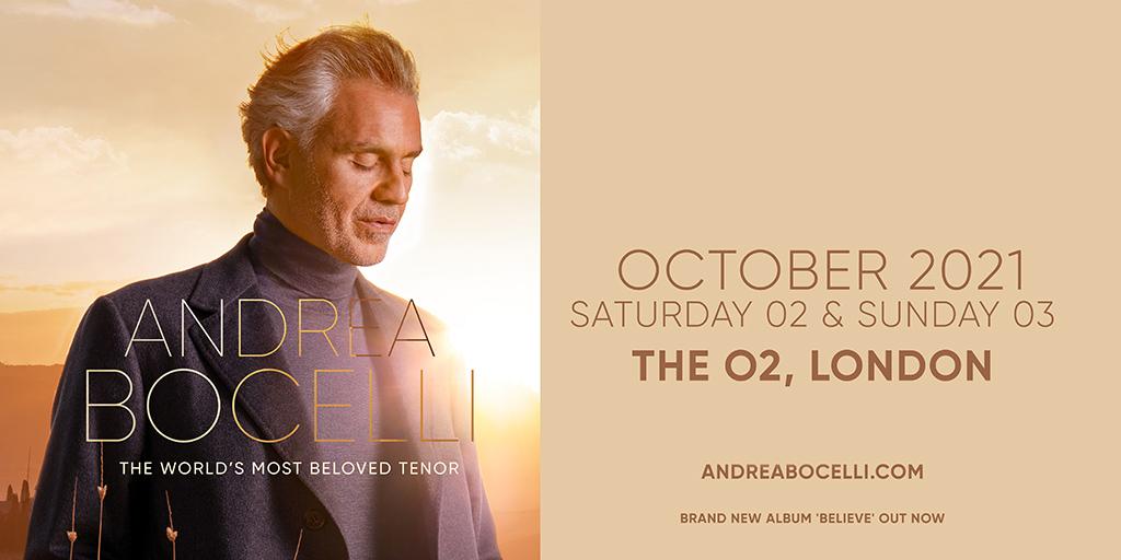 Andrea Bocelli London October 2021