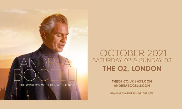 Andrea Bocelli London 2021
