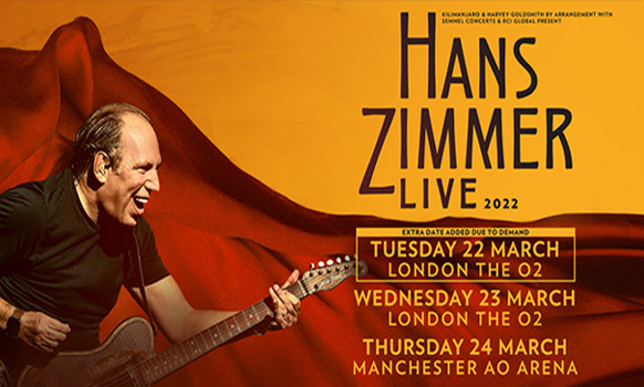 Hans Zimmer Live London and Manchester 2022
