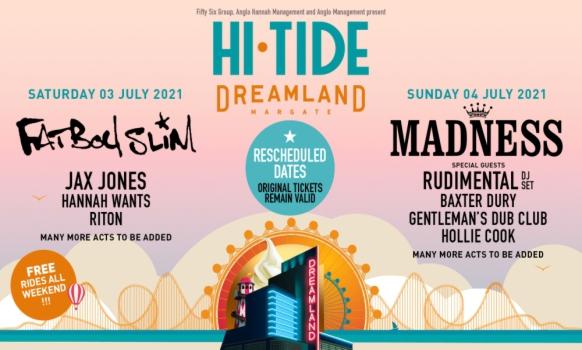 Hi tide Festival Dreamland Margate 2021