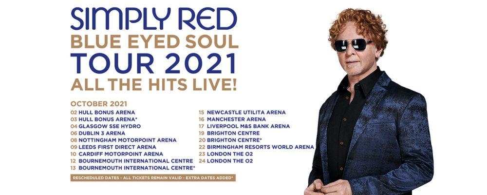 Simply Red Tickets 2021 UK Tour