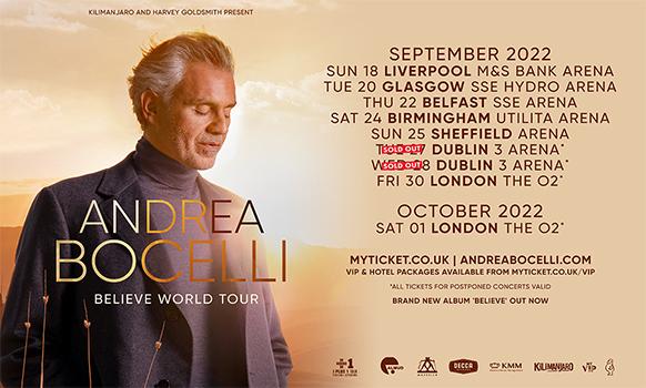 Andrea Bocelli UK Tour 2022