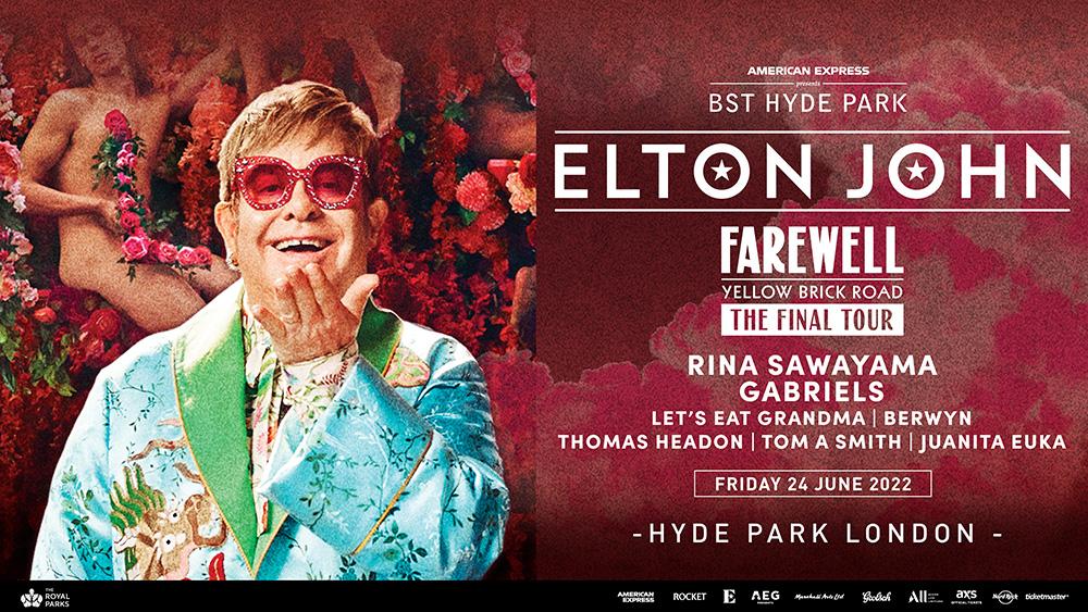 Elton John BST Hyde Park 24 June 2022