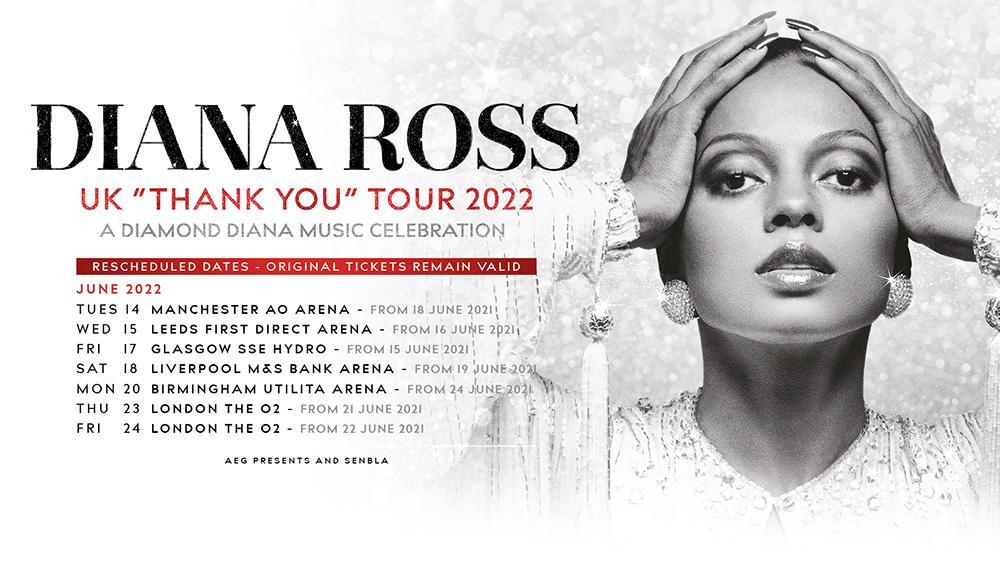Diana Ross 2022 UK Tour Dates