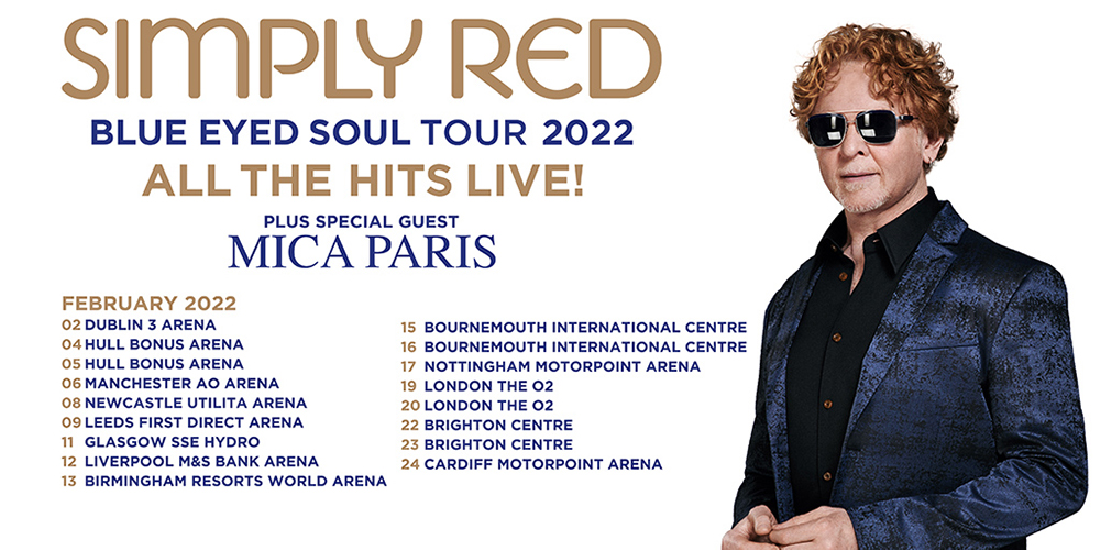 Simply Red Tour 2022 - UK Dates