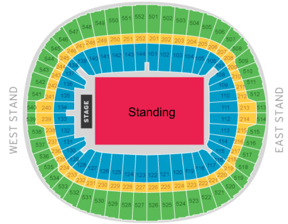 wembley stadium seating plan pitch standing. Black Bedroom Furniture Sets. Home Design Ideas