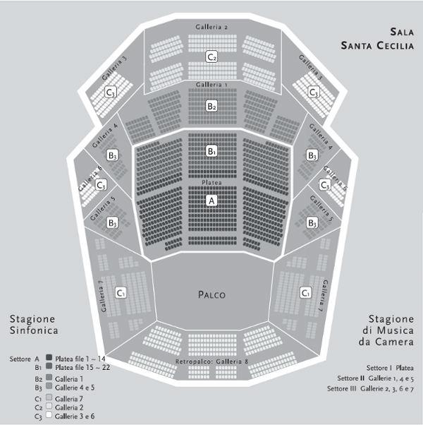 Auditorium parco della musica for Auditorium parco della musica sala santa cecilia