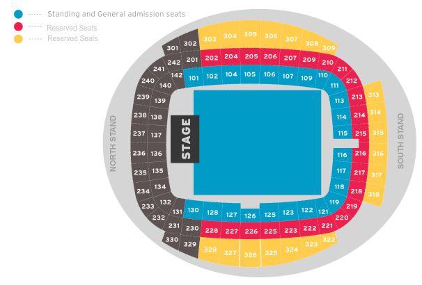 Manchester City Stadium Seating Chart