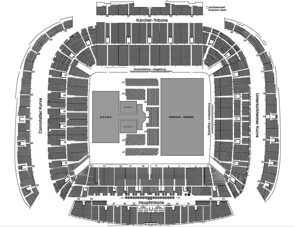 The rolling stones tickets stuggart silver ticket for Hotels close to mercedes benz stadium