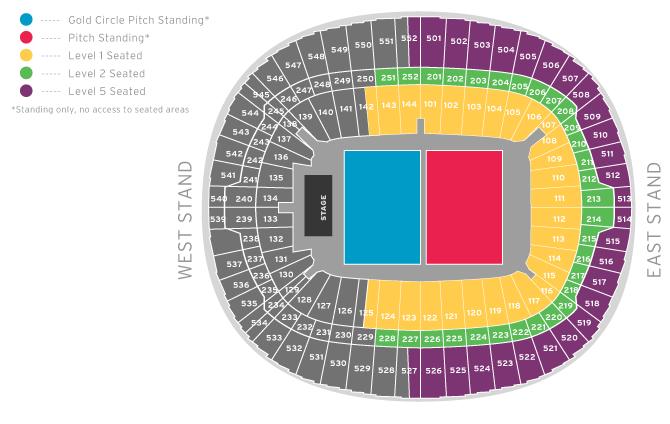 Wembley Seat Map Wembley Stadium Seating Plan Pitch Standing