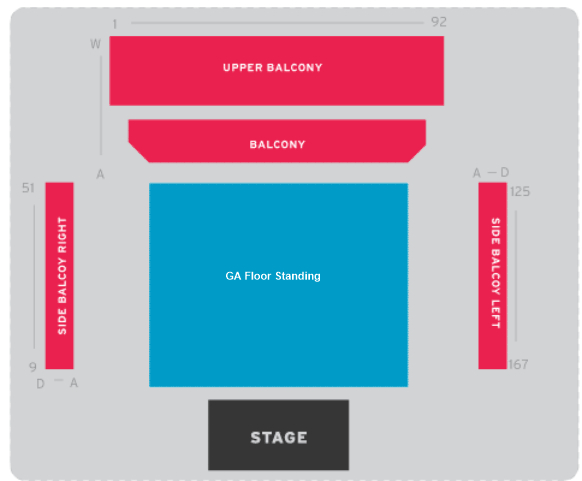 BIC Bournemouth Guide to seating plan